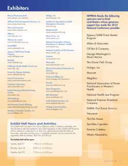 2014 NFPRHA Conference Exhibitors and Supporters (PDF)