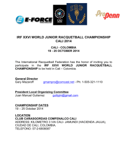 irf xxvi world junior racquetball championship cali 2014