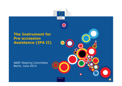 The Instrument for Pre-accession Assistance (IPA II)