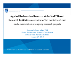 Applied Reclamation Research at the NAIT Boreal Research
