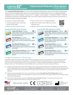 ContacEZ IPR Strip System Product Information Sheet.ai