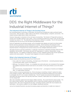 DDS: the Right Middleware for the Industrial Internet of Things?