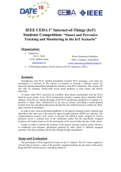 IEEE CEDA 1st Internet-of-Things (IoT) Students