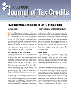 Investigative Due Diligence in LIHTC Transactions