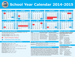 School Year Calendar 2014-2015 - Limestone District School Board