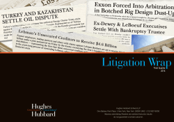 Litigation Wrap - Hughes Hubbard and Reed