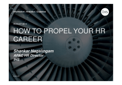 IHS - How To Propel Your HR Career