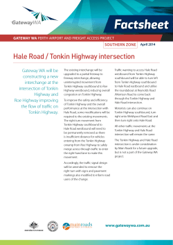 Factsheet – Hale Road / Tonkin Highway Intersection