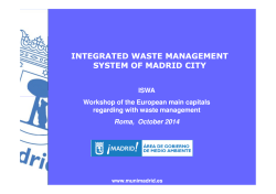 madrid city: integrated waste management - ATIA