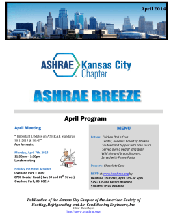 The Breeze Apr 2014 - ASHRAE® Kansas City Chapter