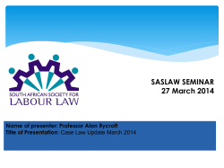 Case Law Updates March 2014