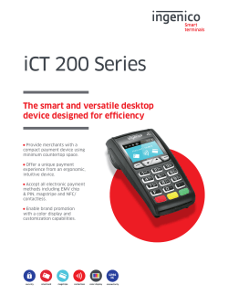 iCT 200 Series Product Sheet