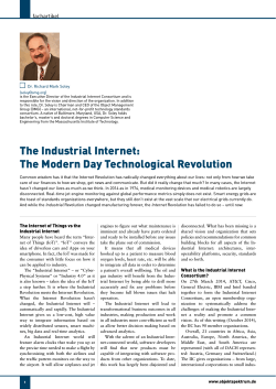 The Industrial Internet: The Modern Day Technological Revolution