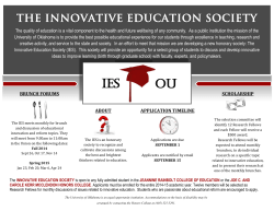 IES OU - The University of Oklahoma