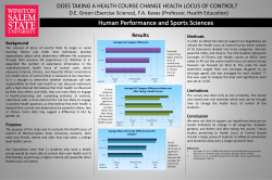 does taking a health course change health locus of control?