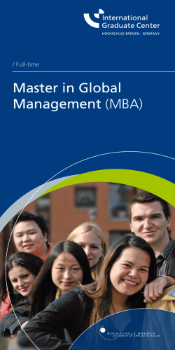 Master in Global Management (MBA)