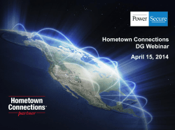 DG Webinar Slides - Hometown Connections