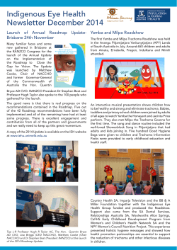 Indigenous Eye Health Newsletter December 2014