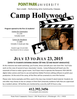 Camp Hollywood - Point Park University