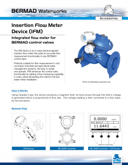 Insertion Flow Meter Device (IFM)