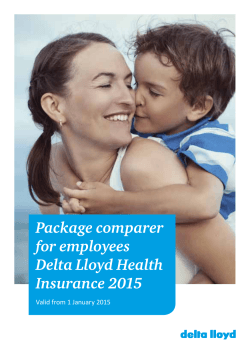 Package comparer for employees Delta Lloyd Health Insurance 2015