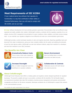 Meet Requirements of IEC 62304