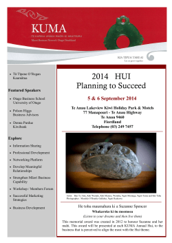 KUMA Hui 2014 Planning to succeed