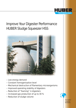 Improve Your Digester Performance HUBER Sludge Squeezer HSS
