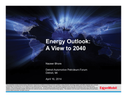 Energy Outlook: A View to 2040