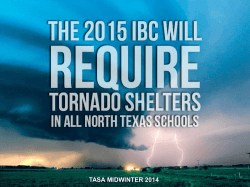 2015 IBC Will Require Tornado Shelters
