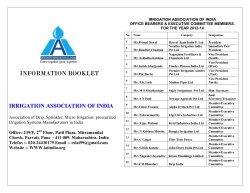 IRRIGATION ASSOCIATION OF INDIA