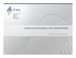 Collateral and Liquidity in the Capital Markets