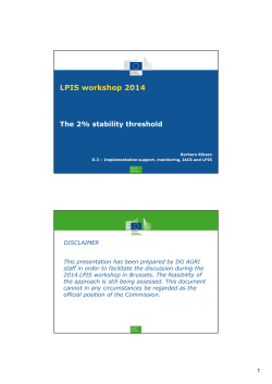 LPIS workshop 2014 The 2% stability threshold