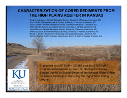 characterization of cored sediments from the high plains aquifer in