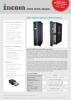 High Volume Optical Archive Library