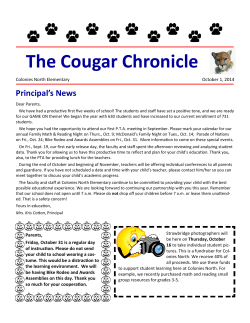 Cougar Chronicle - Northside Independent School District