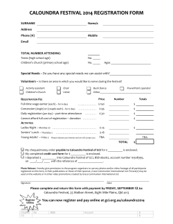 Registration form - Grace Communion International