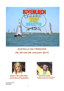 Newsletter December 2014 - South Gippsland Yacht Club