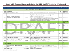 Asia-Pacific Regional Capacity Building for HTA (ARCH) Initiative
