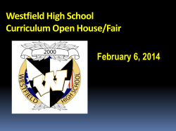 Westfield High School Curriculum Open House/Fair