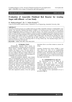 Evaluation of Anaerobic Fluidized Bed Reactor for treating