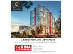 Project Briefing: G Residences, Ara Damansara