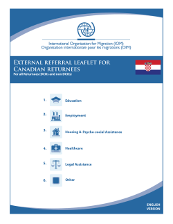External referral leaflet for Canadian returnees