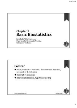 Basic Biostatistics using SPSS (Note)