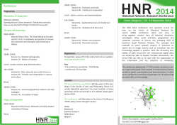 HNR 2014 - Ghent Center for Digital Humanities