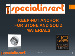keep-nut anchor for stone and solid materials