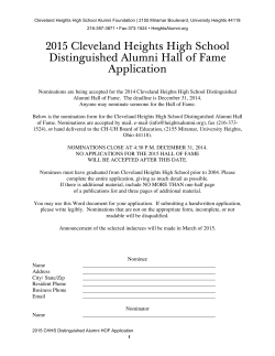 nomination form - CHHS Alumni Foundation