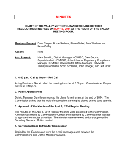 May 13, 2014 Meeting Minutes - Heart of the Valley Metropolitan