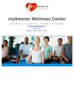 myAmeren Wellness Center Enrollment Packet