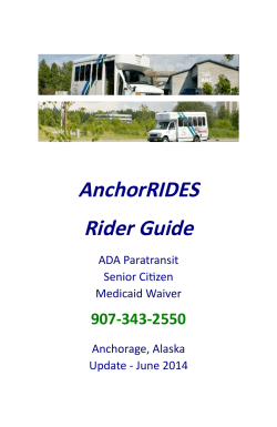 AnchorRIDES Rider Guide - Municipality of Anchorage